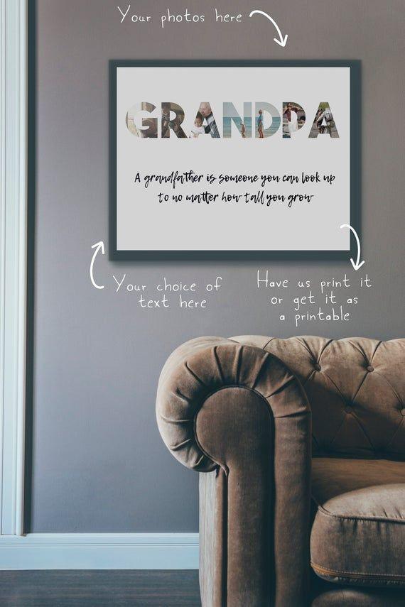 Grandpa Gift, grandparent gift photo, Grandpa photo gift, grandpa birthday gift, great grandpa gift,