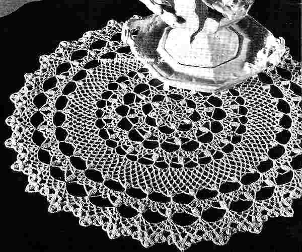 honeysuckle doily instructions | Honeysuckle Doily free vintage ...