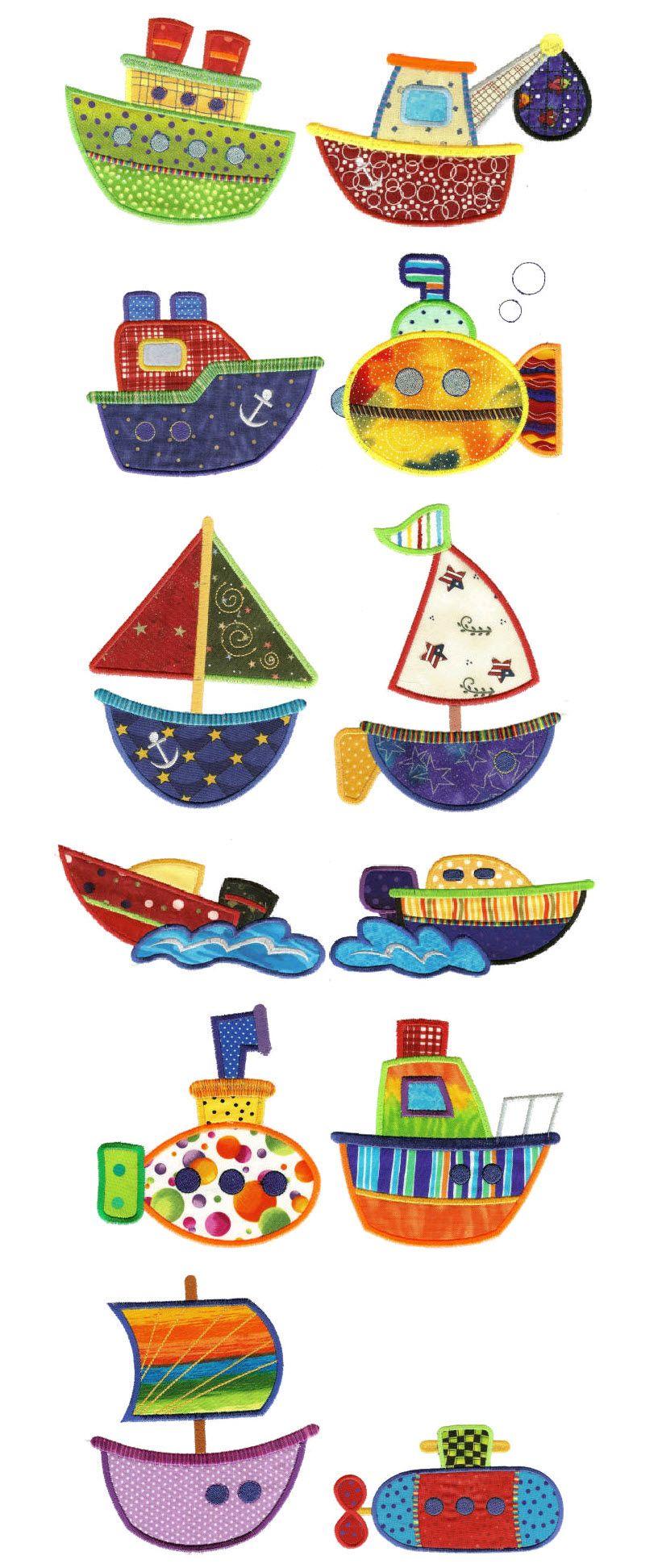 Por mar | Coches | Bordado, Máquinas de bordar y Costura