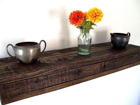 Rustic Floating Shelf Floating Shelves Pallet Wood Shelf Reclaimed