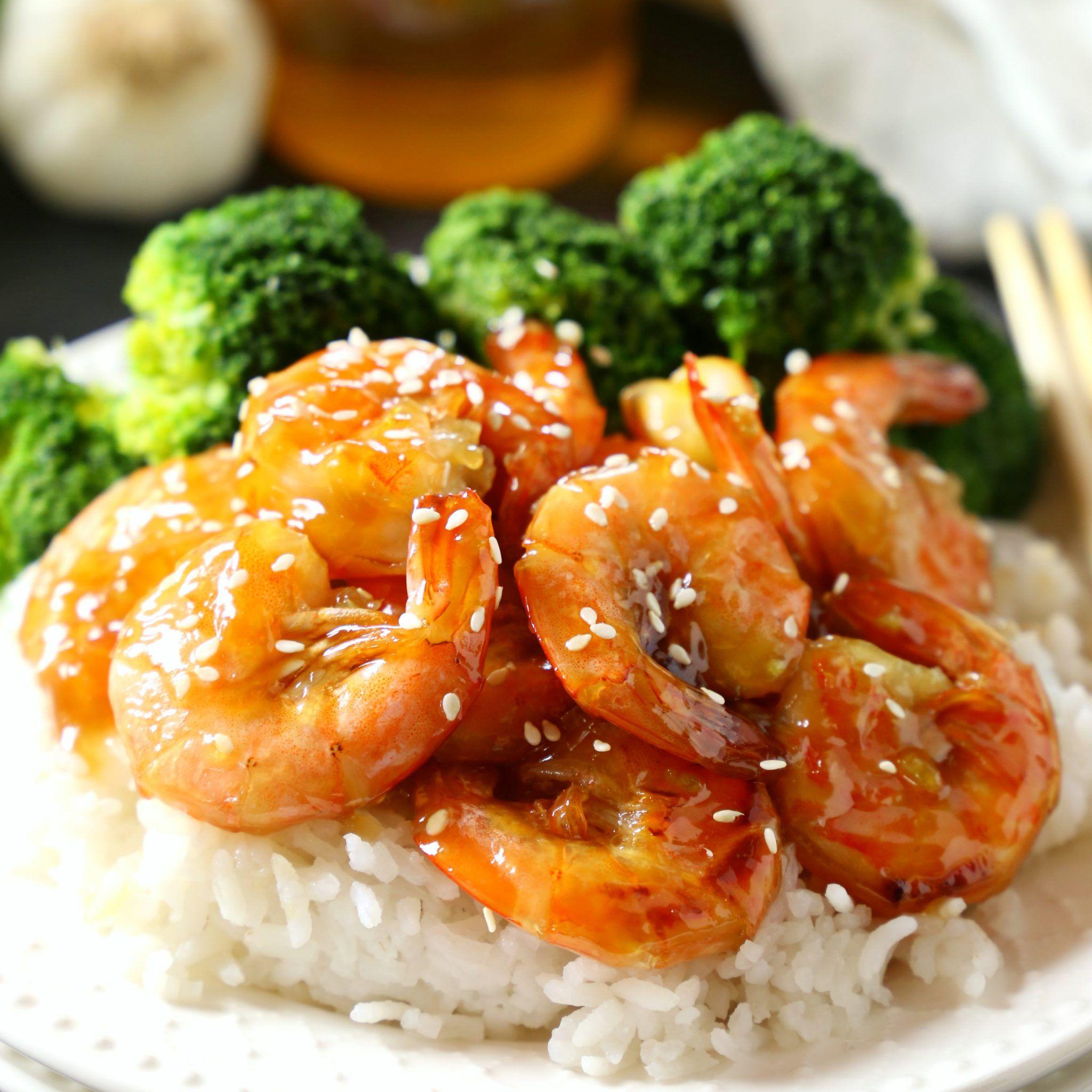 Easy One Pan Honey Garlic Shrimp - The Busy Baker