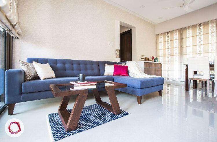 An All White Contemporary Suburban Mumbai Condo Simple Living Room Interior Design Small House Interior Design