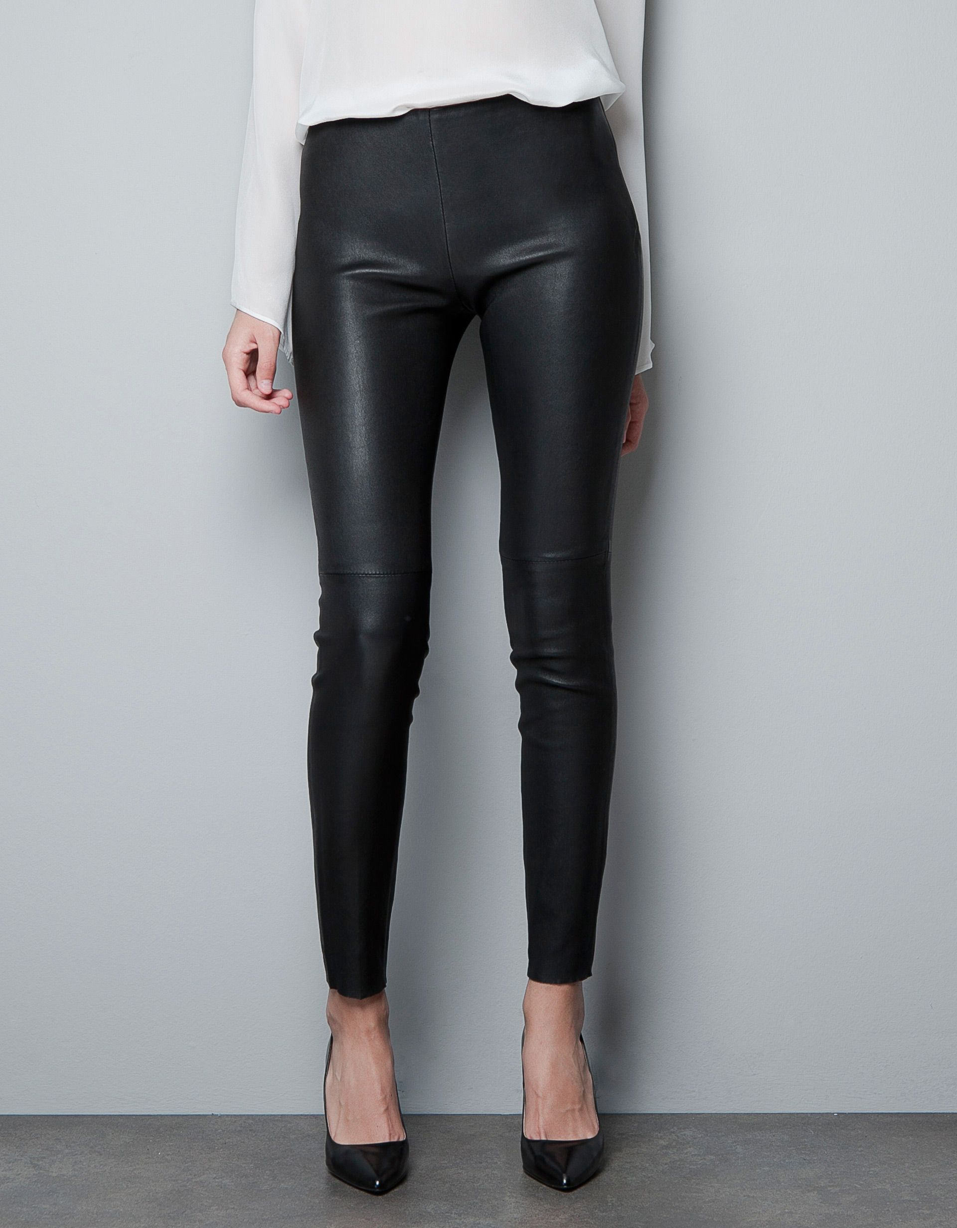 19ab0543 Zara stretch leather trousers | Fashionista Musings in 2019 | Faux ...