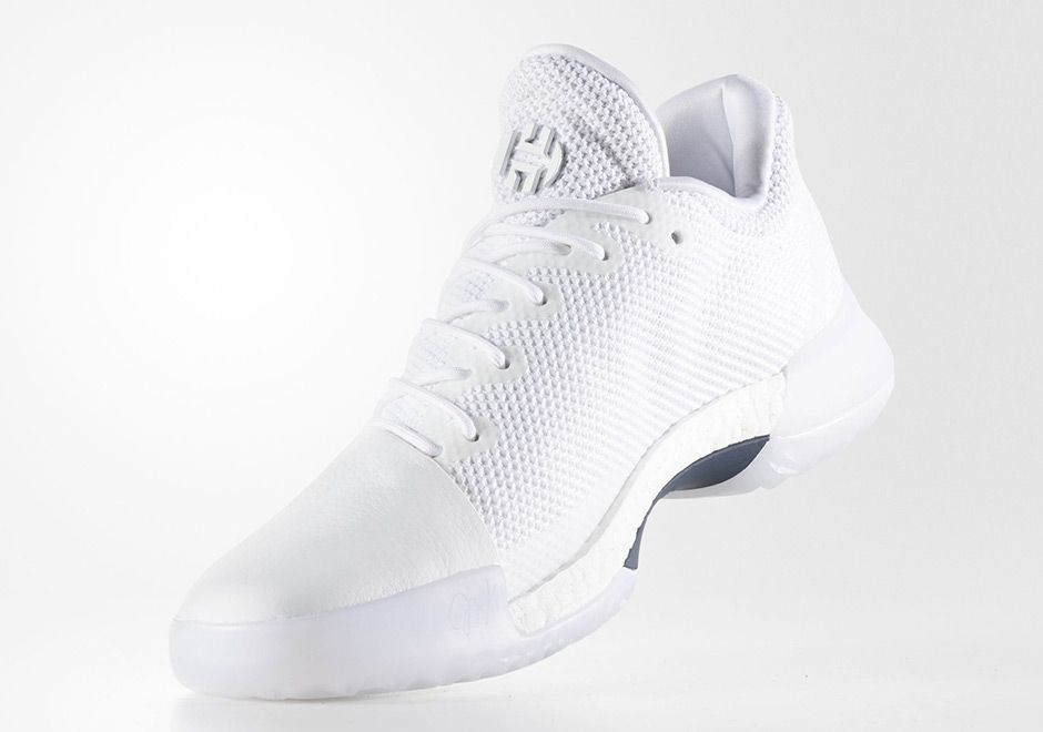 best sneakers b1bd1 6c9d7 Adidas James Harden Vol. 1 Triple White  BY4525 Release Date August 19,  2017 Price 140 Style Code BY4525