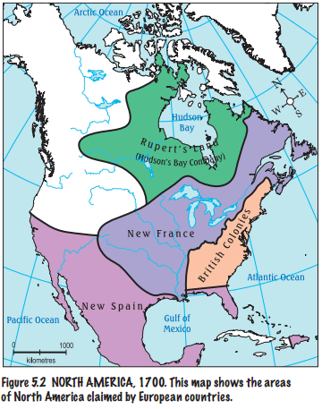 Map Of Canada Government Of Canada.The French In Canada 1604 1759 From Government Of Nwt Site Early
