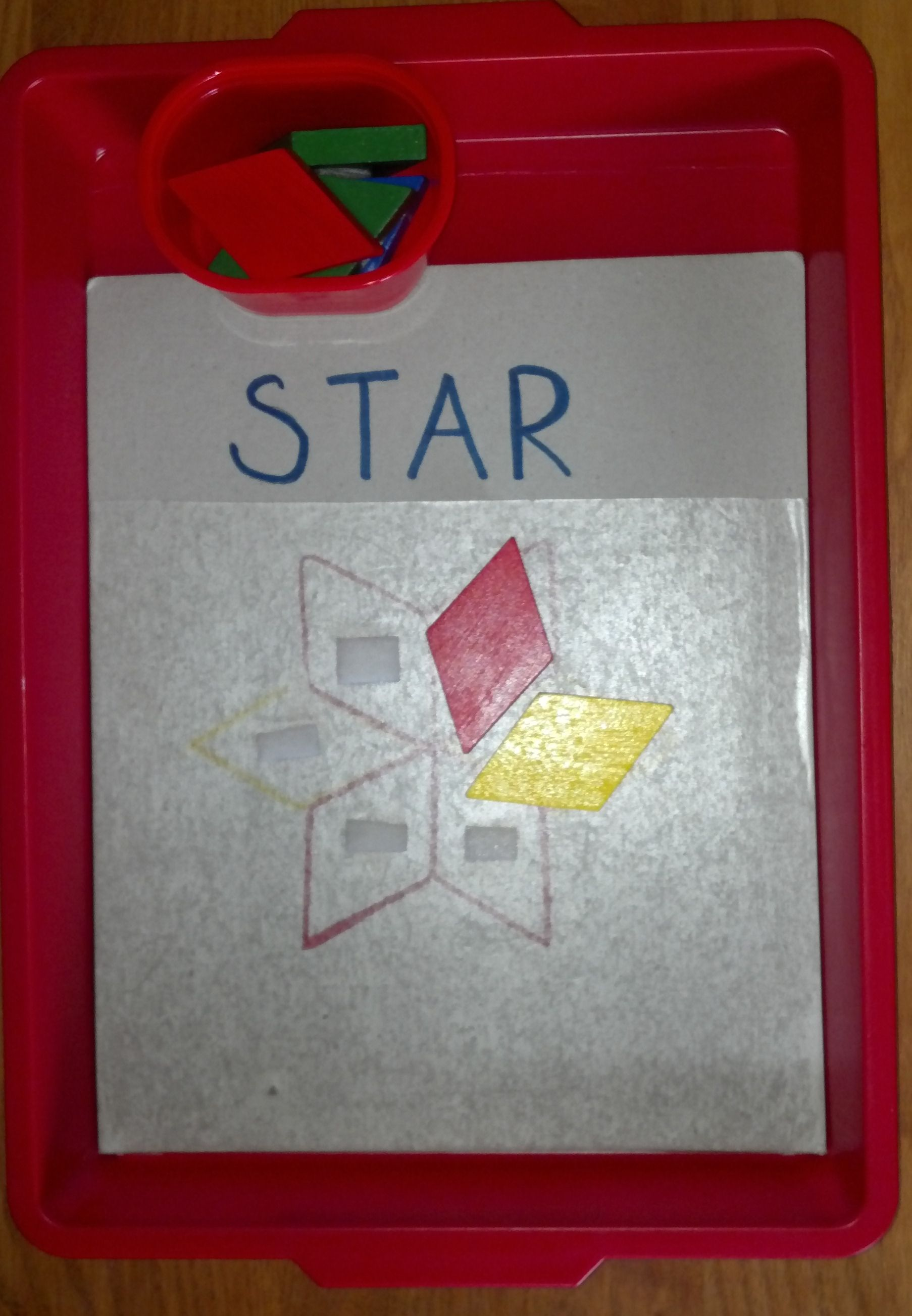Using Geometric Shapes To Make A Star Circle Flower