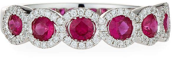 Diana M. Jewels 18k Ruby & Diamond Fashion Ring, Size 6