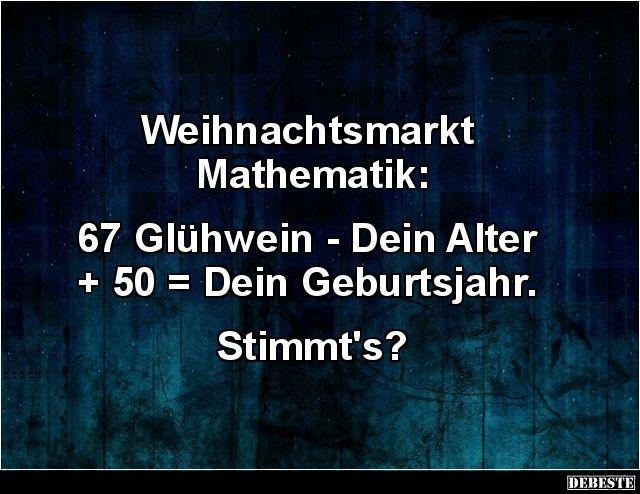 Weihnachtsmarkt Mathematik 67 Glühwein Dein Alter