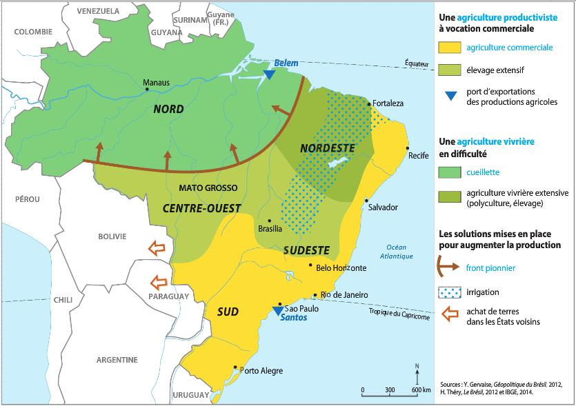 Carte Du Bresil Agriculture.L Agriculture Bresilienne Des Systemes Agricoles Tres