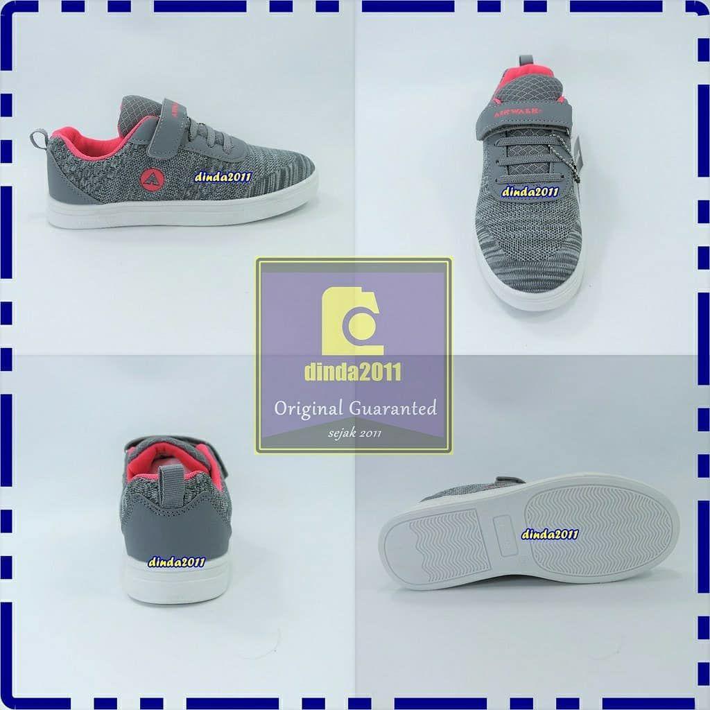 Sepatu Anak Airwalk Original Lucky Jr G Grey Pink Bnib