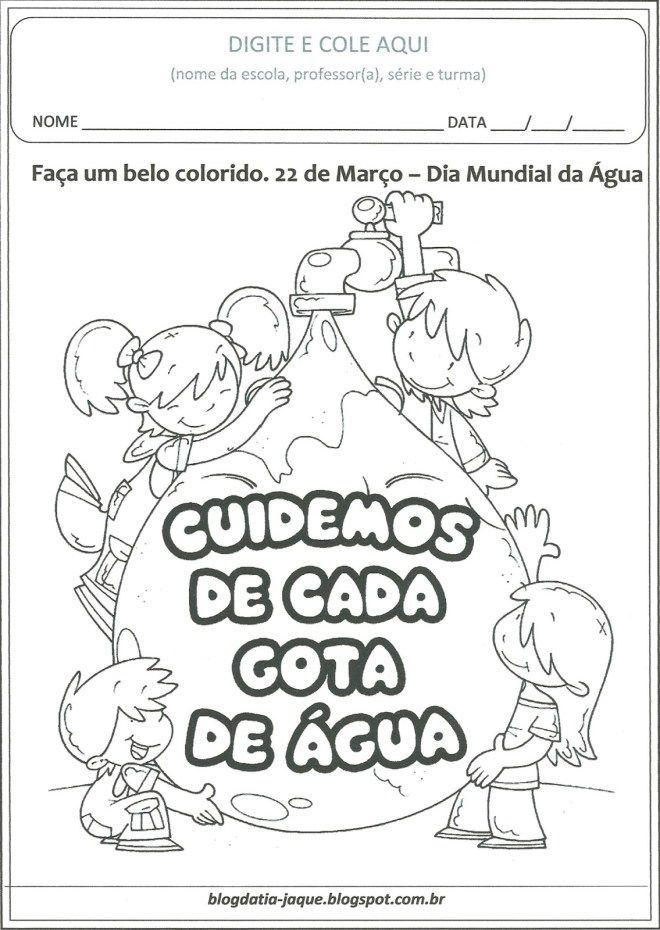 agua-colorir - Atividades para Educação Infantil