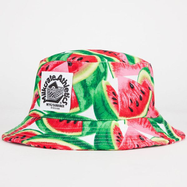 e1806dd667c MILKCRATE ATHLETICS Watermelon Mens Bucket Hat ( 36) ❤ liked on Polyvore  featuring men s fashion