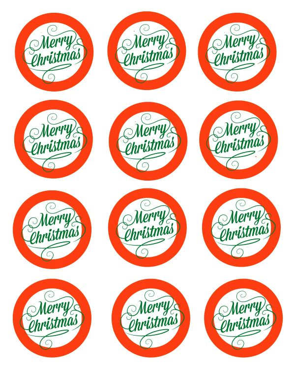 Merry Christmas Labels.Free Printable Merry Christmas Mason Jar Gift Labels