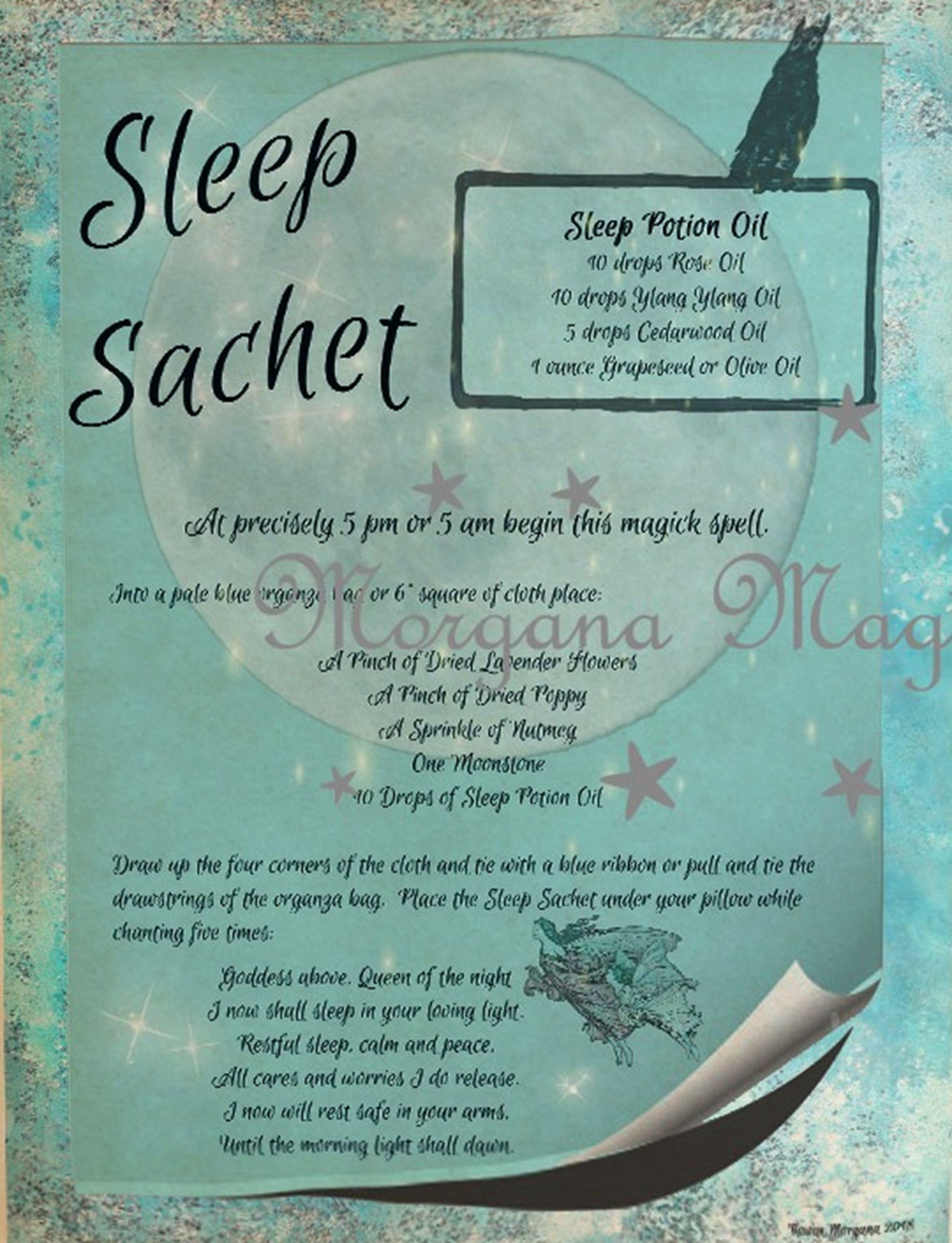Sleep Spell Nautral Wiccan Wax Melt