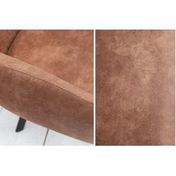 Retro Design Stuhl Lucca vintage braun mit Steppung Industrial Stil Riess Ambiente