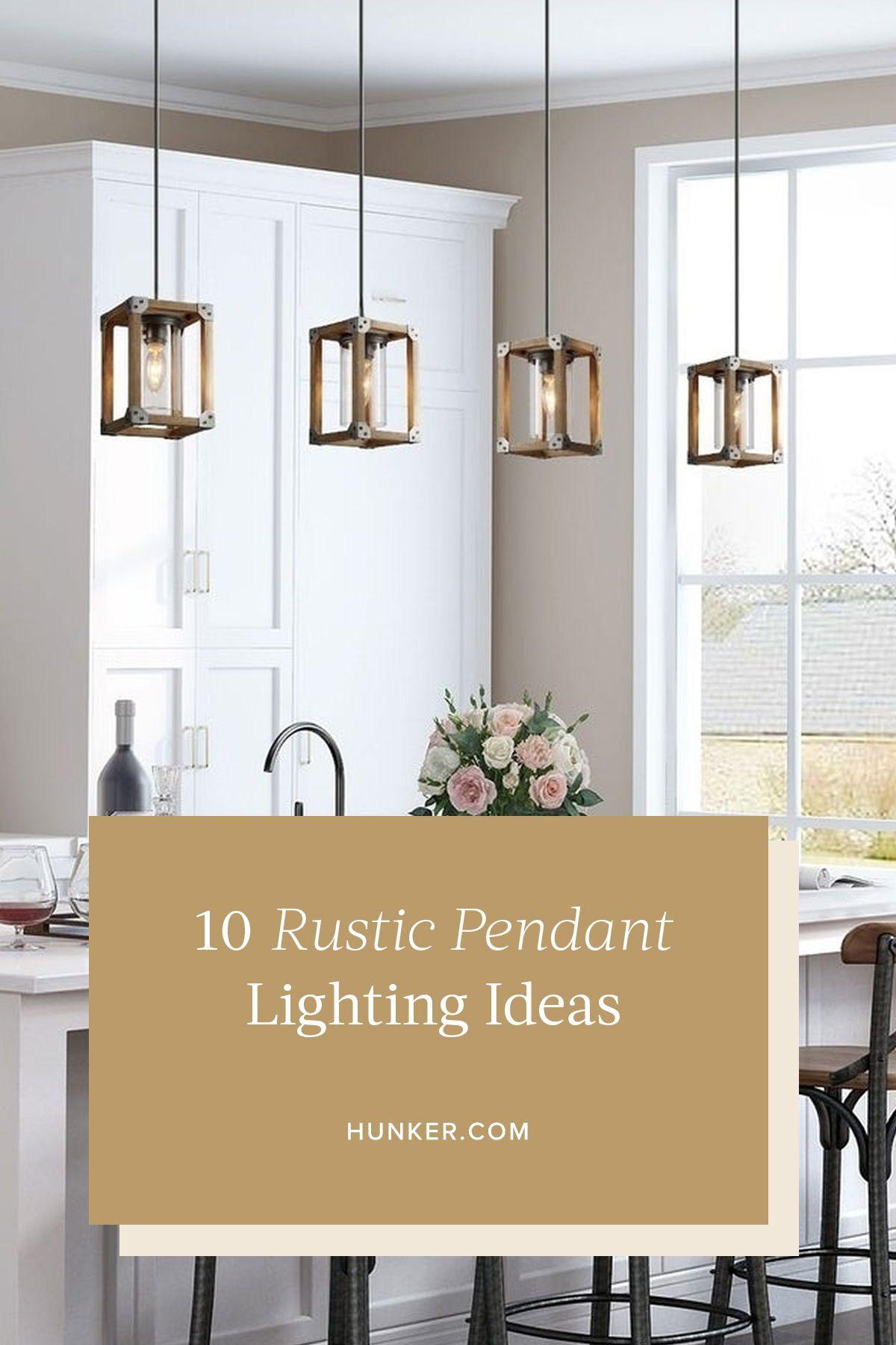 10 rustic pendant lighting ideas to