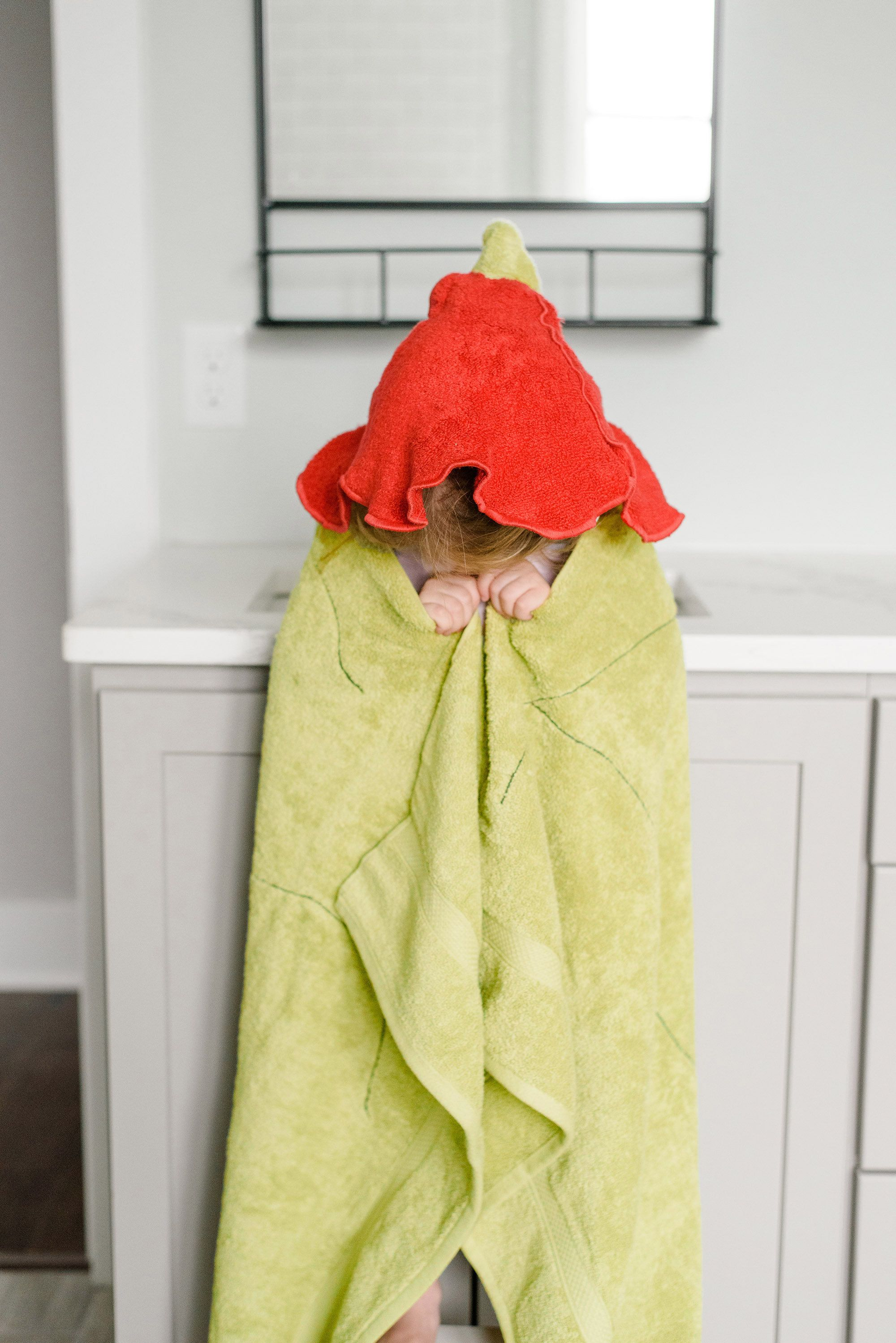 Flower Fairy Hooded Bath Towel In Soft Fast Drying Cotton