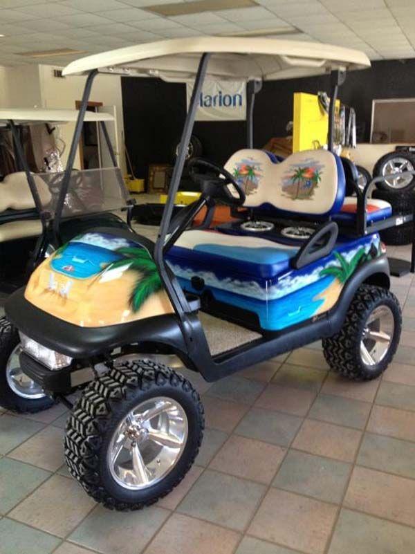 Beach Themed Golf Cart~ | Golf Cart Ideas | Pinterest | Golf carts on car cart, box cart, 2002 chrysler gem cart,