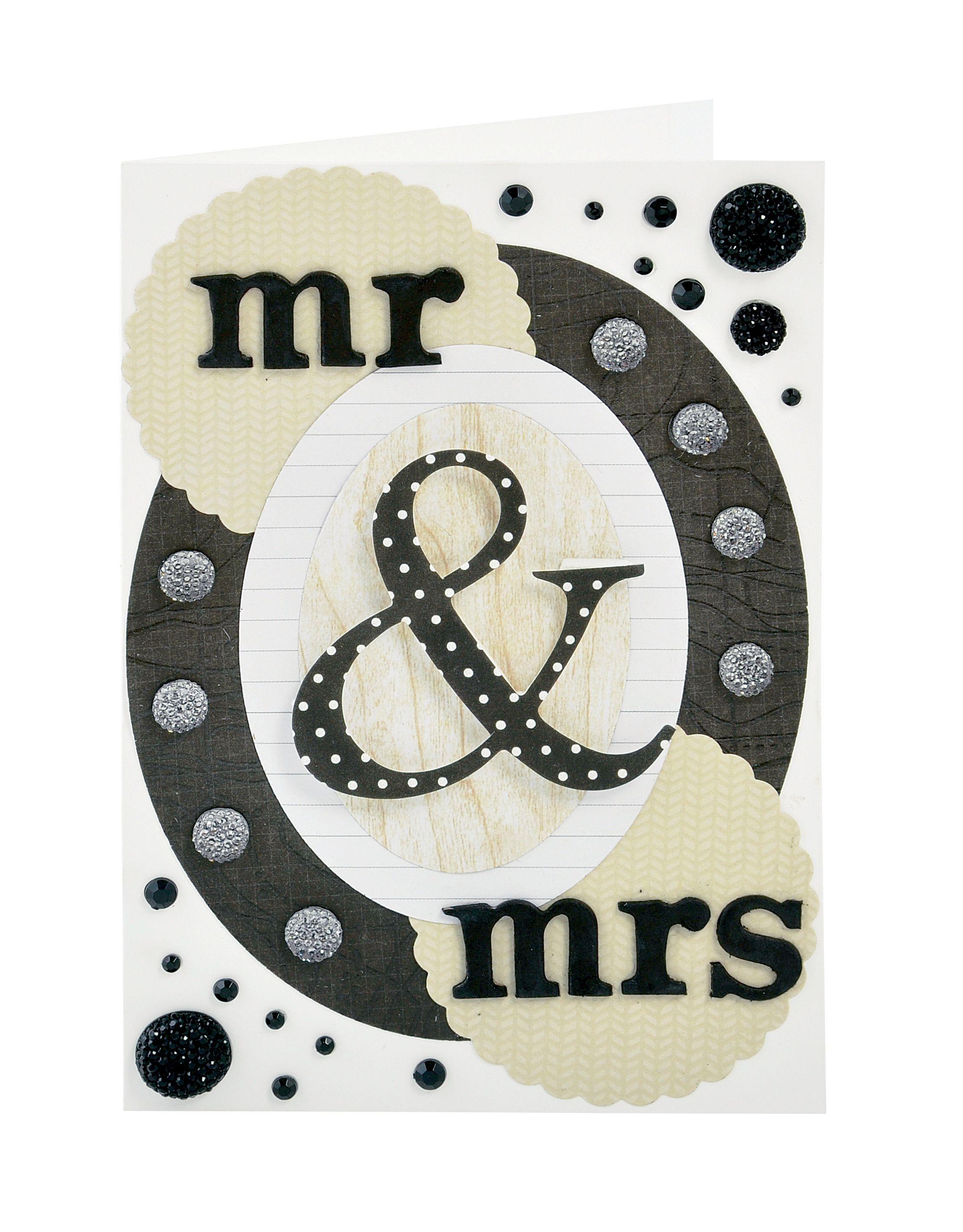 How to scrapbook wedding cards - Mr Mrs Scrapbook Com Simple But Elegant Wedding Card