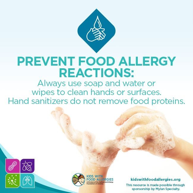 Kids With Food Allergies Hand Sanitizer Does Not Remove Food