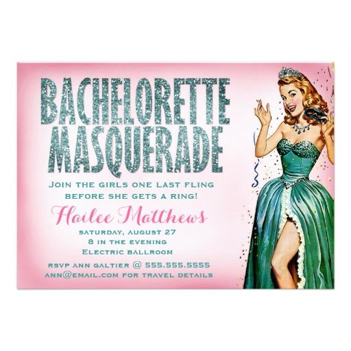 311 Bachelorette Masquerade Pin Girl Sparkle, bachelorette parties, pinup girl, girly, lingerie showers, showers, wedding