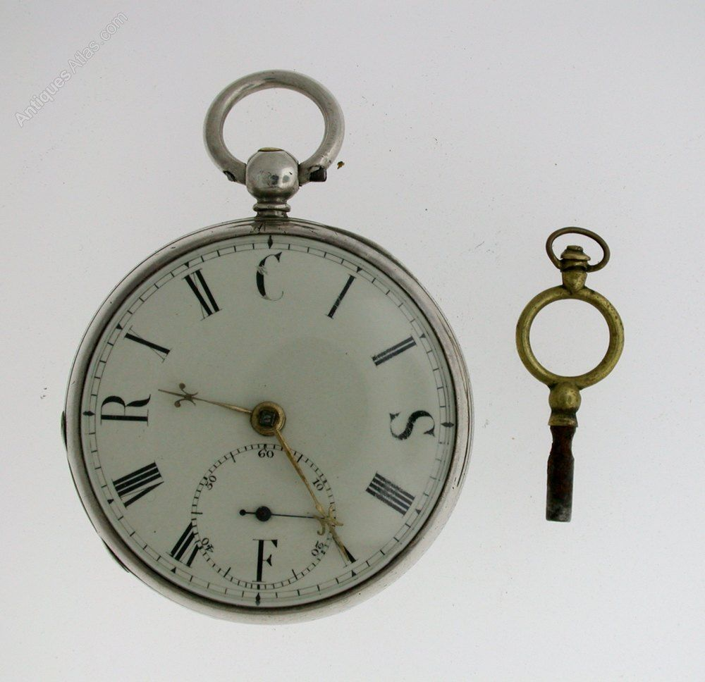7f8b92dc1 Antiques Atlas - Rare Old English S. Brunner Silver Pocket Watch ...