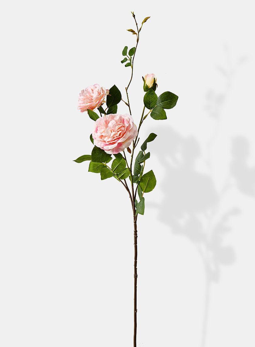 35in Pink Peony Rose Spray Pretty Flowers Pink Peonies Digital Flowers