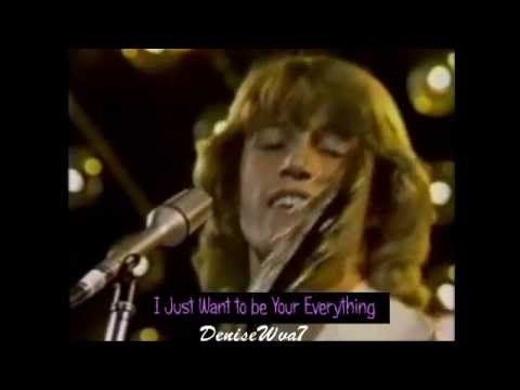 Andy Gibb I Just Want To Be Your Everything Live Youtube