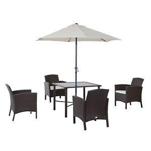 6pc Patio Rattan Furniture Set Wicker 4