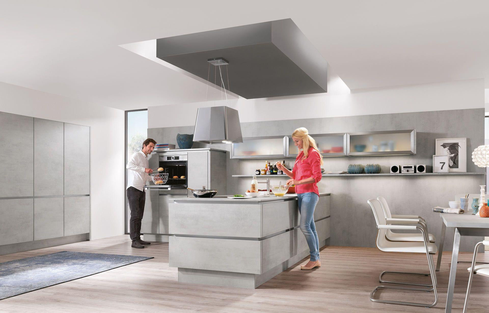 Nobilia Kitchens White modern kitchen, Gray and white
