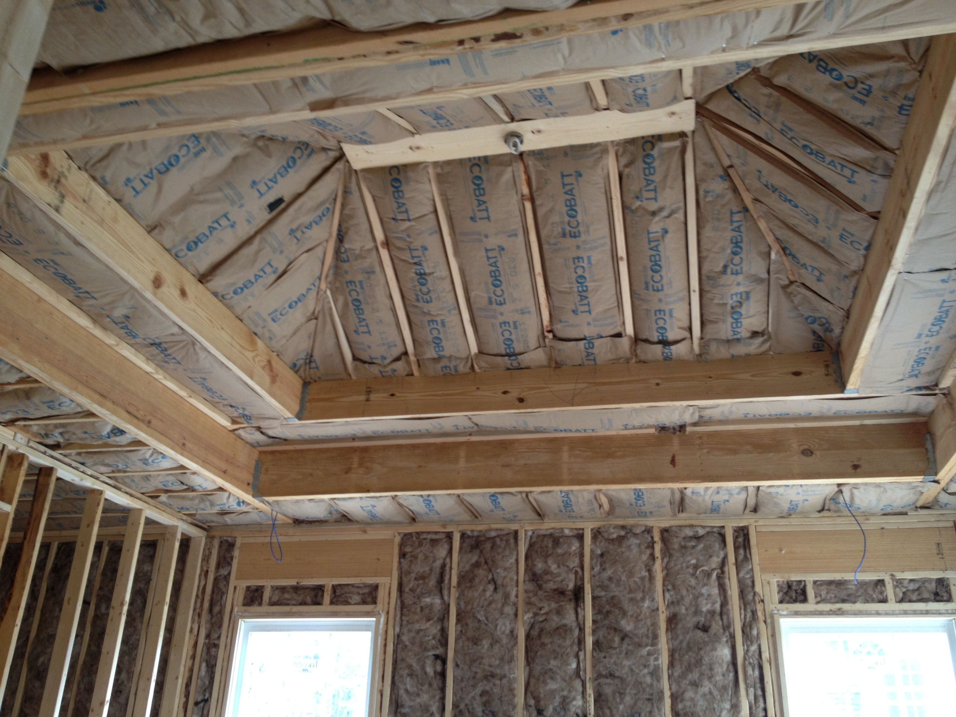 Vaulted ceiling framing plan for Coffered cathedral ceiling