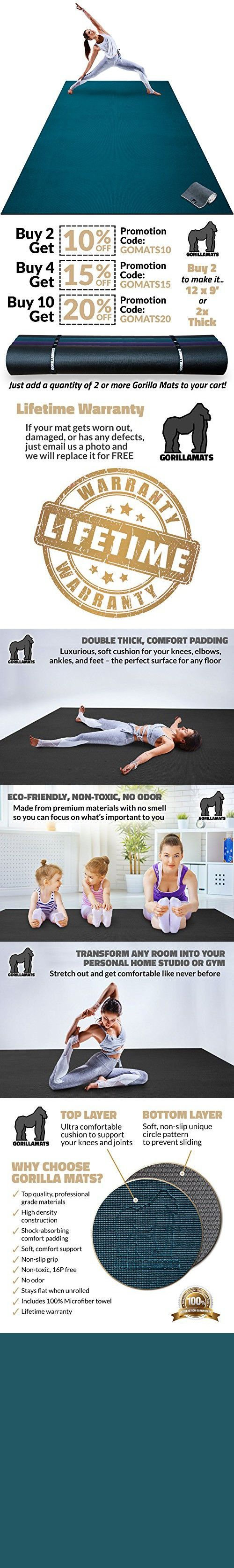 Premium Extra Large Yoga Mat 9 X 6 X 8mm Extra Thick Comfortable Non Toxic Non Slip Barefoot Exercise Mat Yoga Stretching Cardio Workout Mats For H Large Yoga Mat
