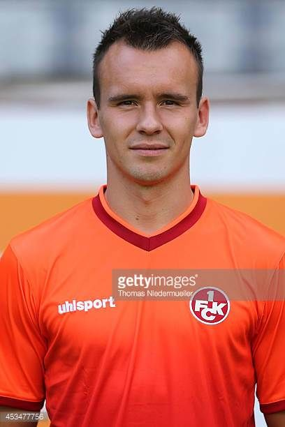 Andre Fomitschow of 1FC Kaiserslautern poses during the team presentation at FritzWalter Sadion on July 15 2014 in Kaiserslautern Germany