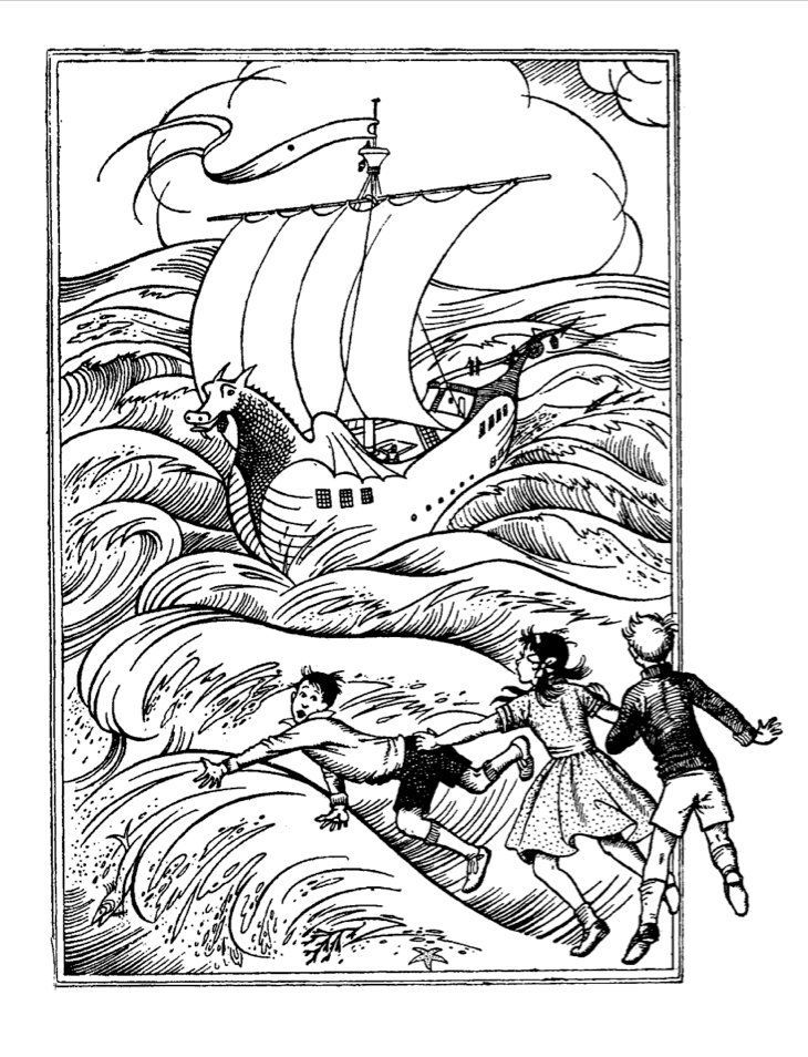 The Voyage Of The Dawn Treader With Images Book Illustration