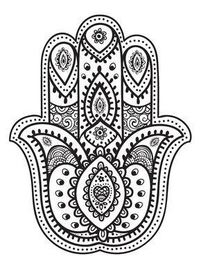 Color mind n 2 pinterest coloriage henn et dessin - Coloriage main de fatma ...