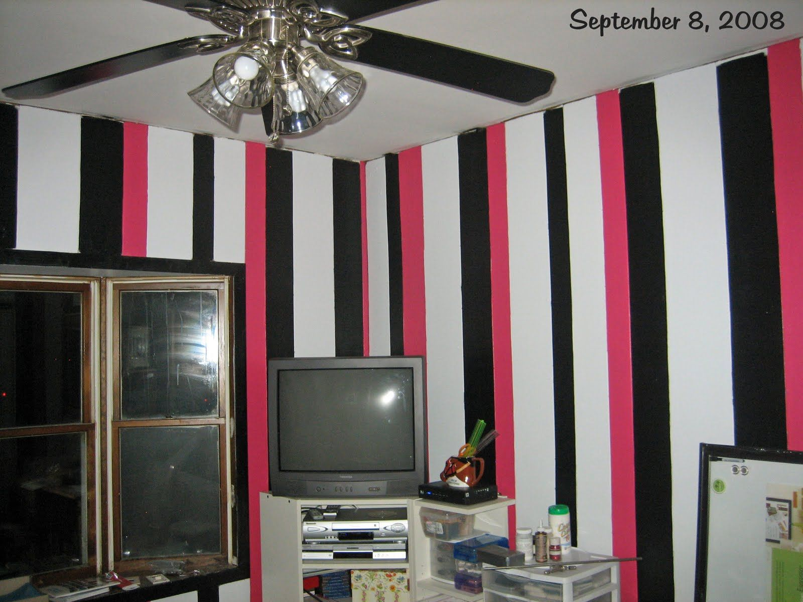 Paint Vertical Stripes On Wood Paneling (Possibly Use 2 Shades