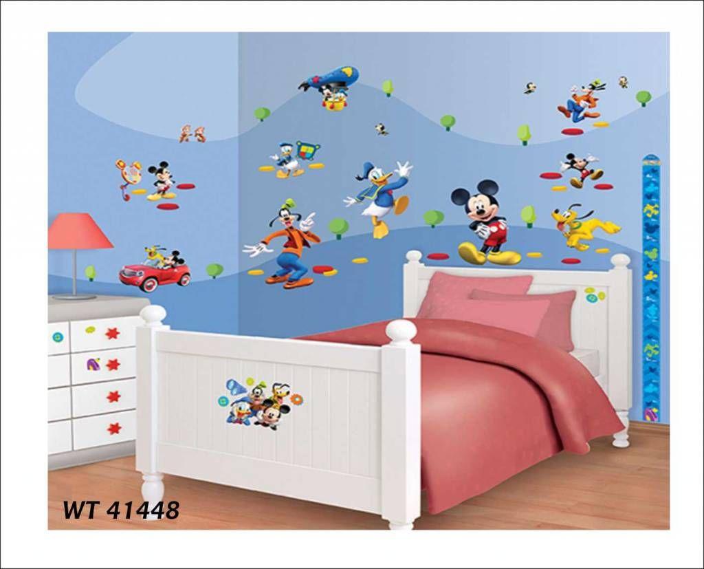 Muurdecoratie Kinderkamer Disney.Fotobehang Of Wandstickers Disney Mickey Moushe Donald