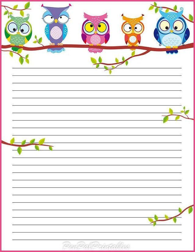 1b34e6dc77e8e6ad965b29c3e128f4d8jpg 640×828 pixels Owls! Owls - blank lined page