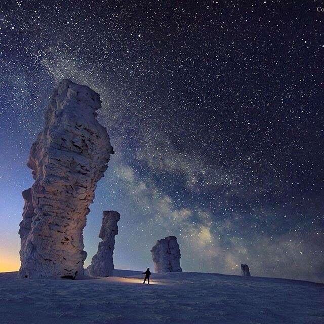 Manpupuner rock formations, North Ural Mountains, Russia