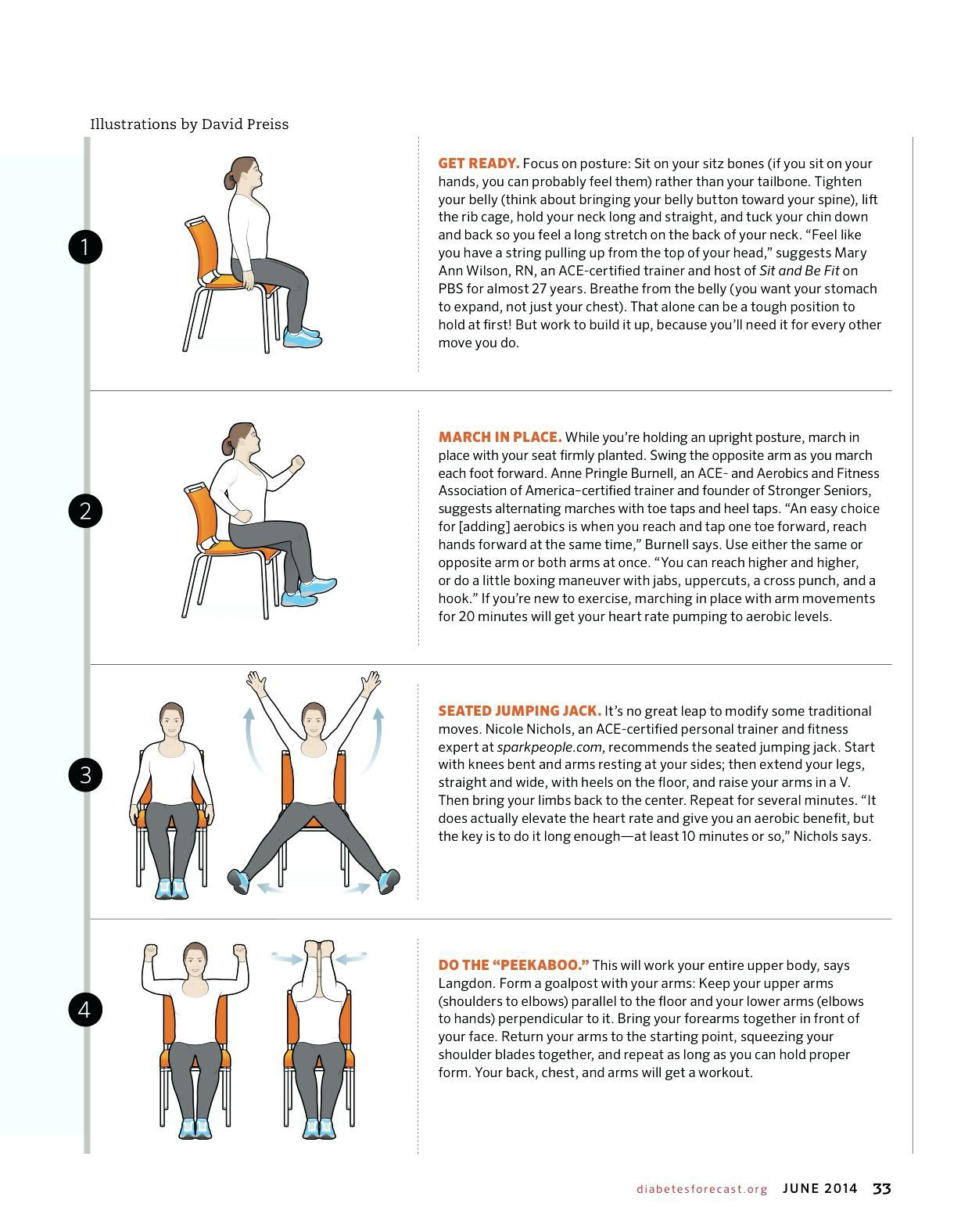 Beautiful Chair Exercises for Seniors (With images ...