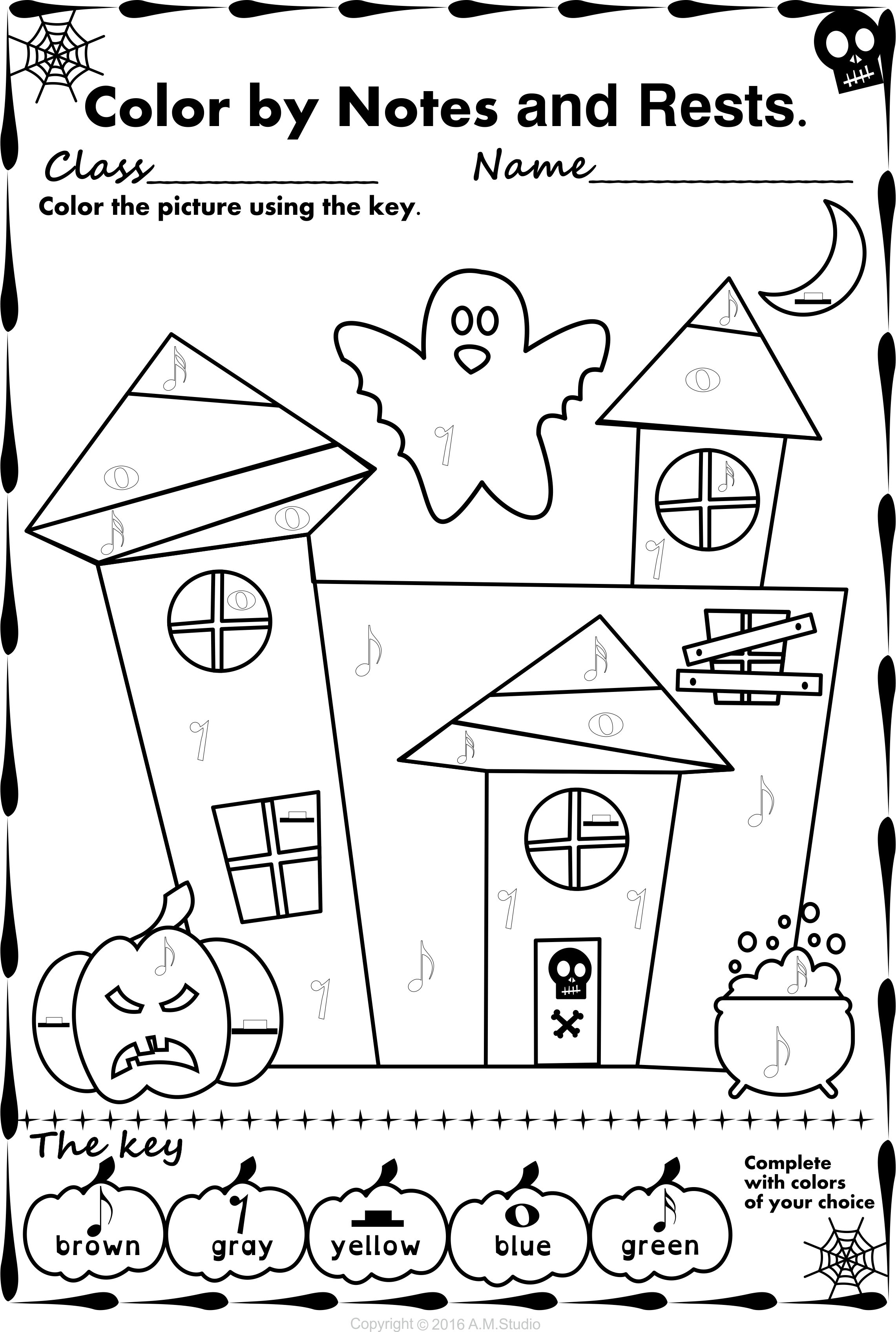 Simple And Fun Halloween Music Activity For Kids This Set Contains 13 Designs In Halloween Music Activities Halloween Music Coloring Music Activities For Kids