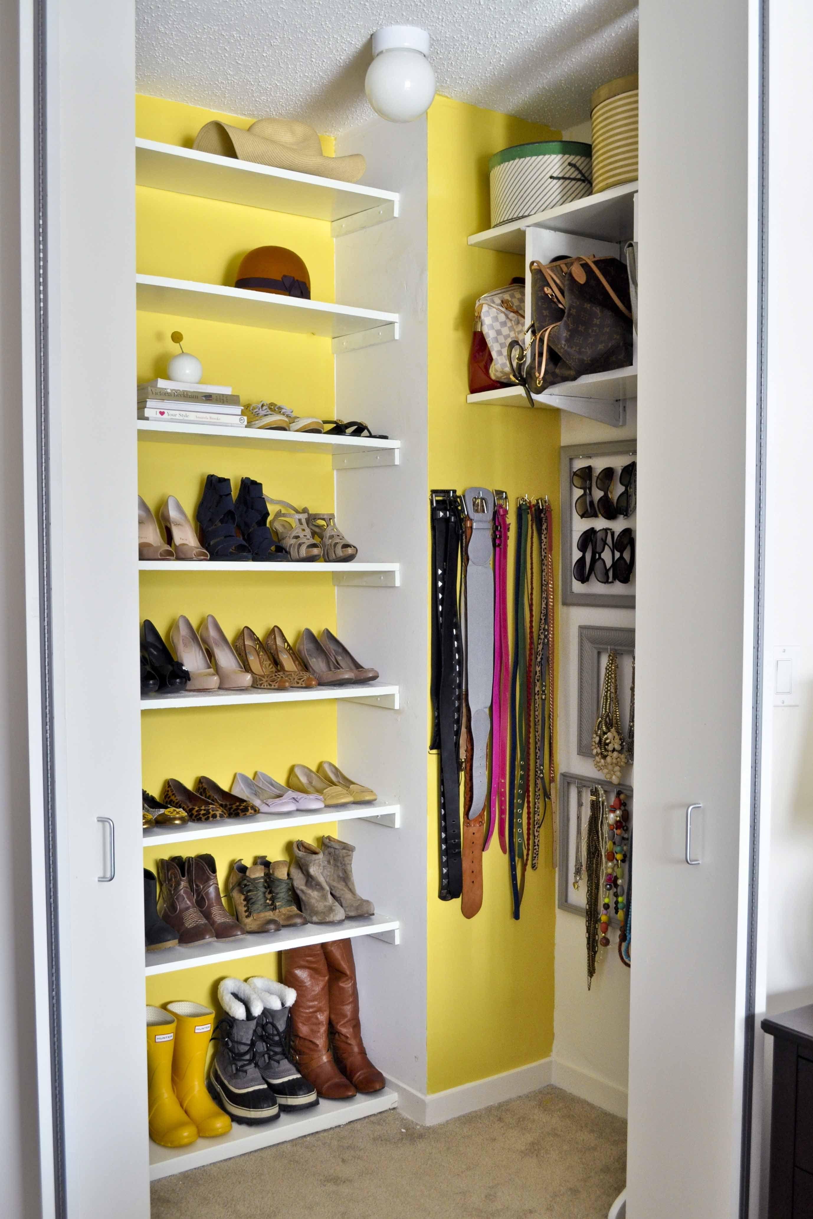 Lulu Abroad\'s Accessories Closet. Love the idea of bright walls ...
