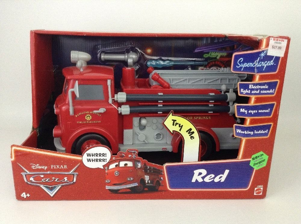 12 Red Fire Engine Disney Cars Electronic Lights Sounds