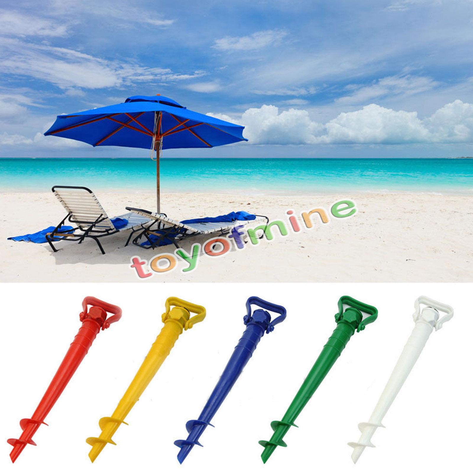 Beach Garden Sun Umbrella Holder Patio Parasol Ground Earth Anchor Spike Stand