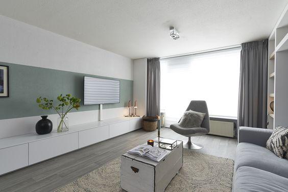 tv meubel die overloopt naar een vaste bank woonkamer pinterest bank tv en huiskamer. Black Bedroom Furniture Sets. Home Design Ideas