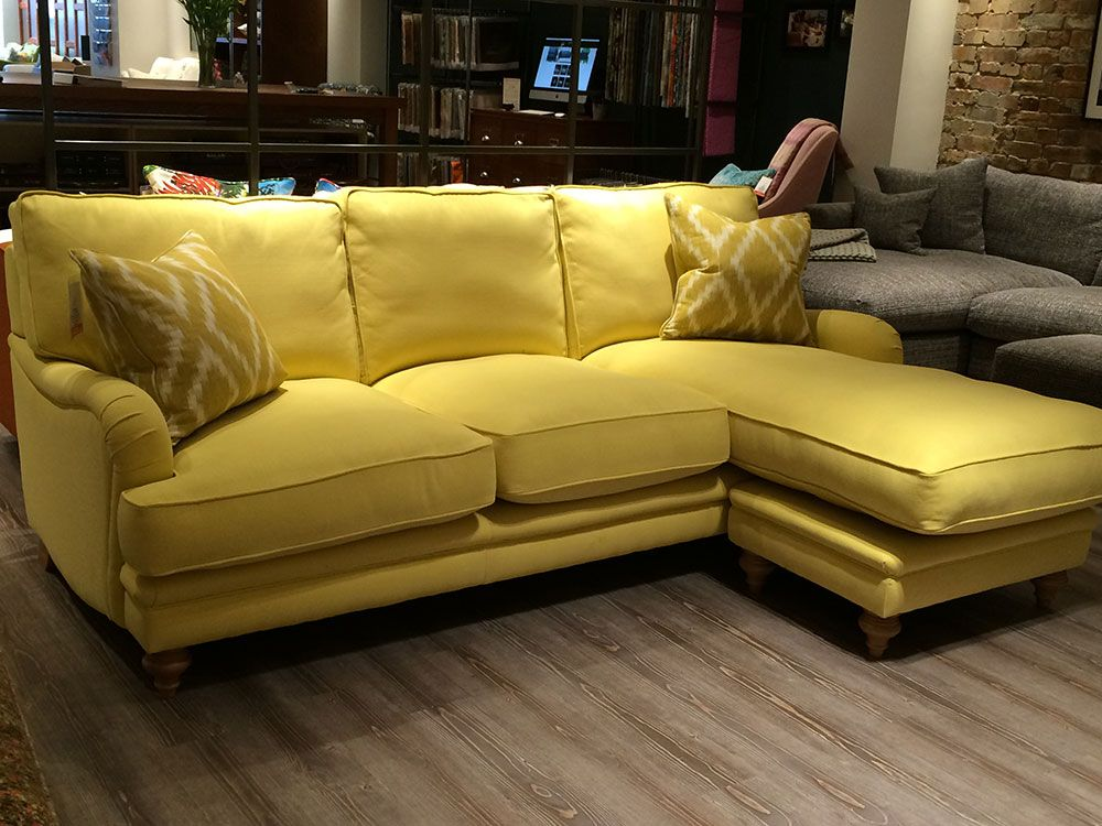 Miss Daisy large sofa chaise in House Brushed Cotton Sunshine //. : chaise house - Sectionals, Sofas & Couches