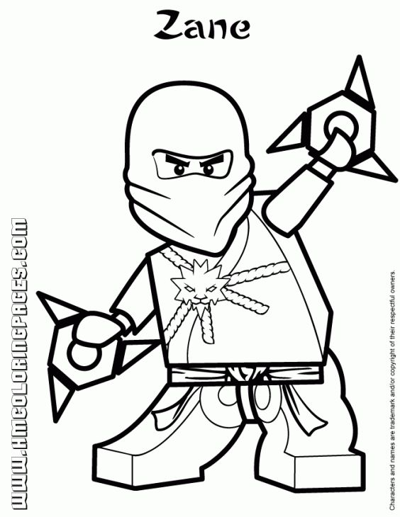 Zane The White Ninja From Lego Ninjago Coloring Page Fun Coloring - best of mini ninja coloring pages
