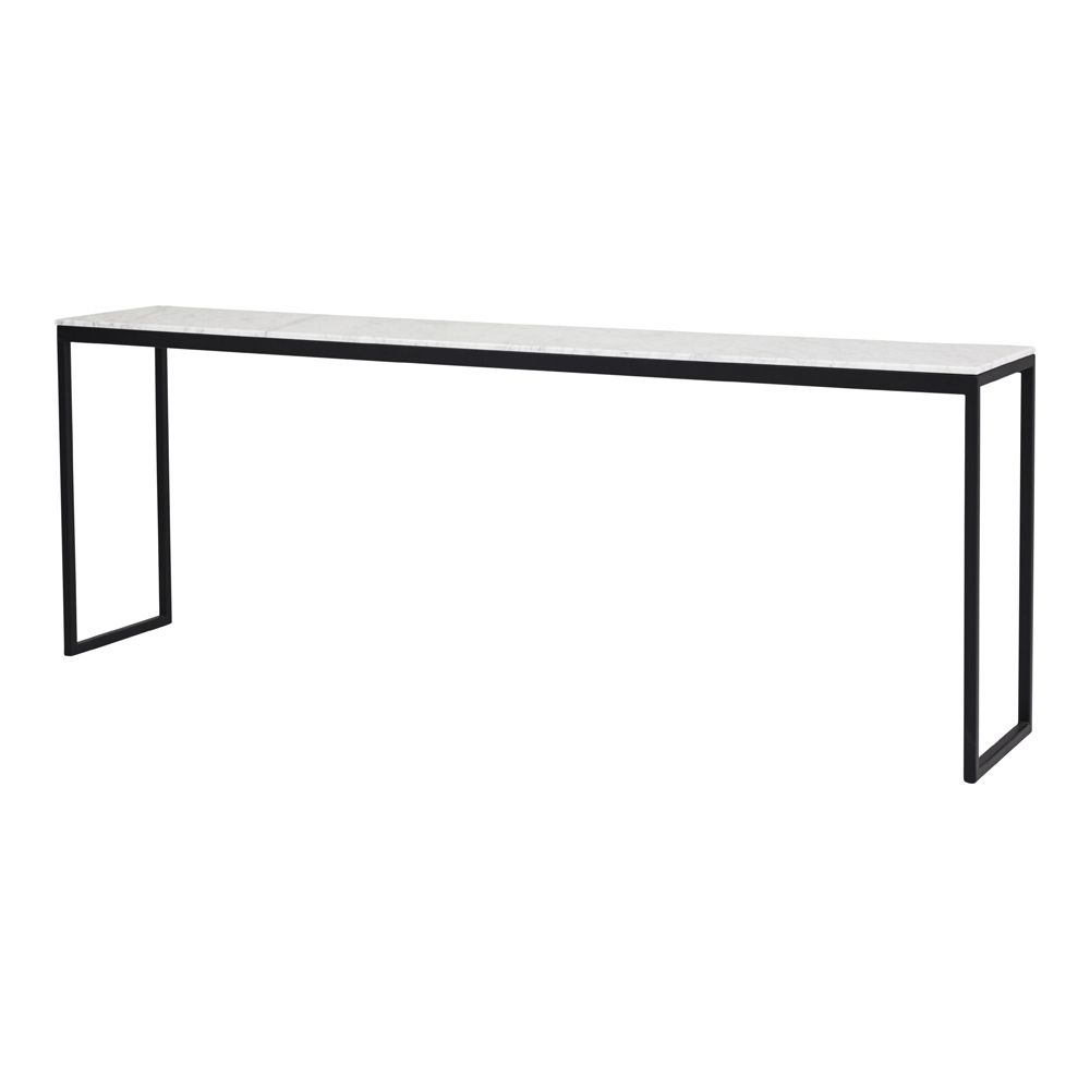 Balmain 6 Drawer Dresser Black Ash Modern Steel and Marble tables