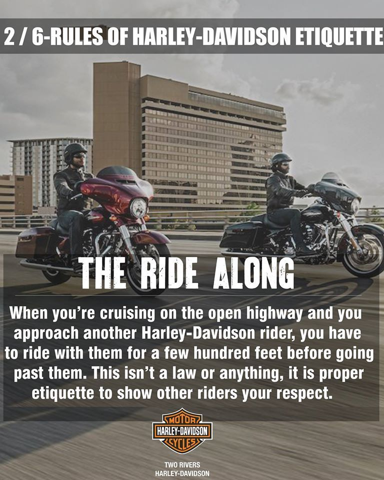Rule No  2 :- #The RideAlong 1 out of 6 RULES OF HARLEY