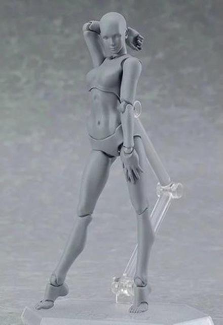 "Figuarts Figma CHAN /& KUN Male Female Movable 5/"" Action Figure Body Model S.H"